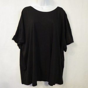 Terra & Sky Tee 3X Black Pima Cotton Short sleeve